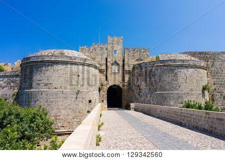 Castle Gates Rhodes Greece