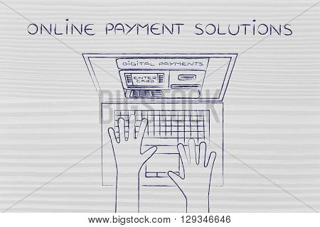 Automatic Teller Machine Inside Laptop, Online Payment Solutions