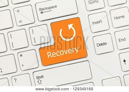 White Conceptual Keyboard - Recovery (orange Key)