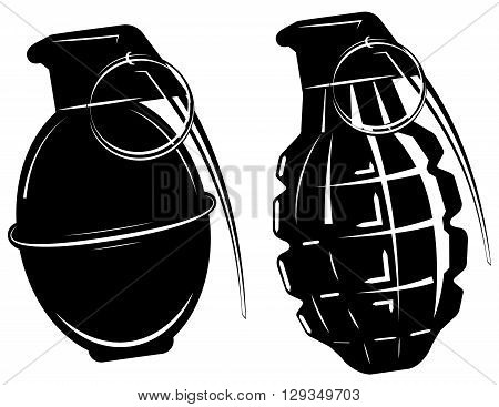 hand grenade, bomb explosion, weapons army weapon vector