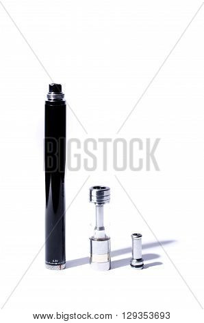 big electronic cigarette isolated on white color solution choice