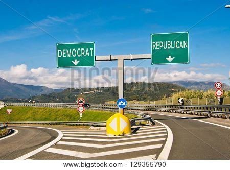 the important moment of political choice Democrats or Republicans
