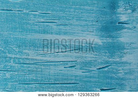 Blue Stained Wooden Background With White Paint  Rustic