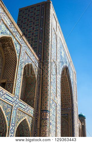Uzbekistan Samarkand the Tilla Kari madrassah in Registan square