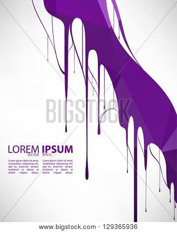 eps10 vector wet violet ink paint elements template design