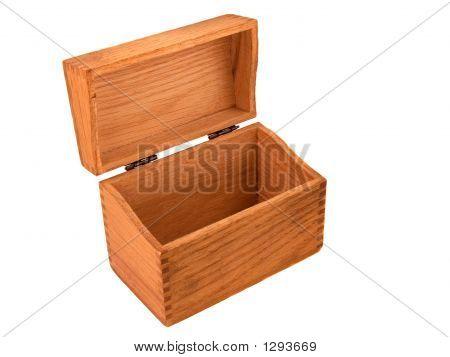 Vintage Oak Dovetailed Recipe Box