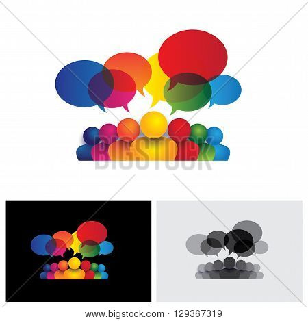 Social Media Vector Icon Of Communication Or Staff Meeting Or Kids Talking