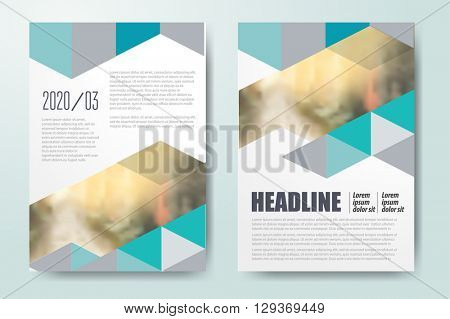 Annual report Leaflet Brochure Flyer template A4 size design, book cover layout design, Abstract presentation templates