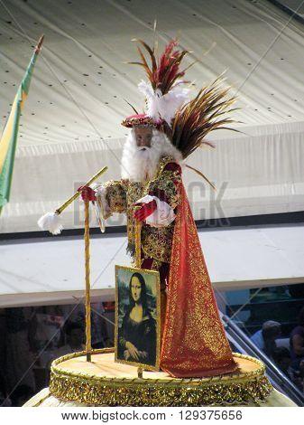 Rio de Janeiro Brazil - February 23: amazing extravaganza during the annual Carnival in Rio de Janeiro on February 23 2009 - Leonardo da Vinci