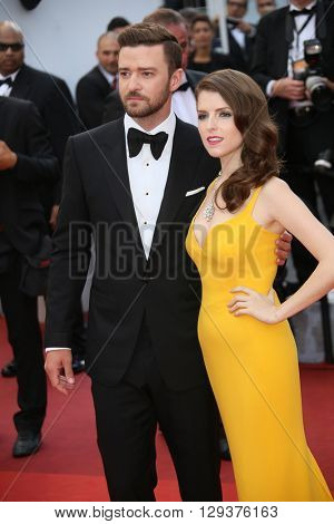 Anna Kendrick,  Justin Timberlake attend the 'Cafe Society' premiere and the Opening Night Gala during the 69th Cannes Film Festival at the Palais des Festivals on May 11, 2016 in Cannes, France.