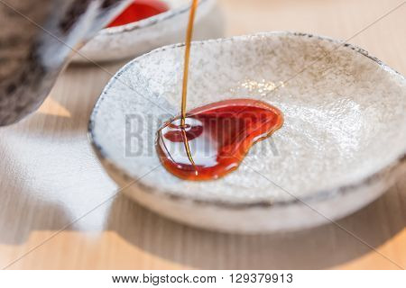 Pour The Soy Sauce To The Bowl