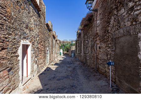 Barracks Street (Rua dos Quart�©is) in the Medieval Borough of Castelo de Vide, Alto Alentejo, Portugal.