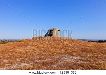 Tapadao dolmen in Crato, the second biggest in Portugal. Located in Aldeia da Mata, Crato.