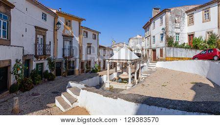 Fonte da Vila (Towns Fountain) in the Jewish Quarter of Castelo de Vide, Portalegre, Portugal. 16th century fountain.