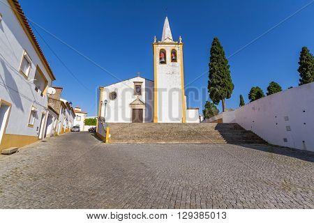 Nossa Senhora da Conceicao Church, the Mother Church of Crato. Alto Alentejo, Portugal.