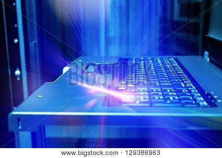 Keyboard control modern mainframe terminal abstraction rays flash
