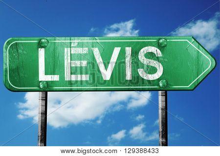 Levis, 3D rendering, a vintage green direction sign