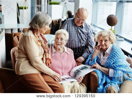 Gathering of senior friends