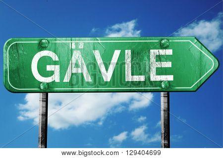 Gavle, 3D rendering, a vintage green direction sign