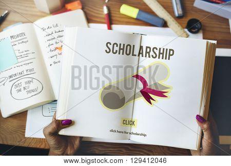 Scholarship Aid Cost Education Finance Graduate Concept