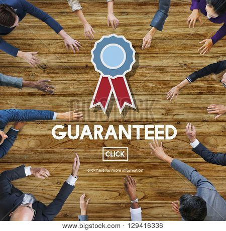 Guaranteed Warranty Quality Safety Service Concept
