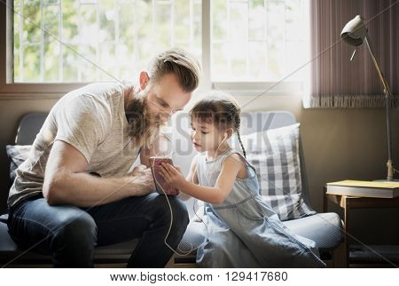 Father Daughter Family Relationship Time Concept
