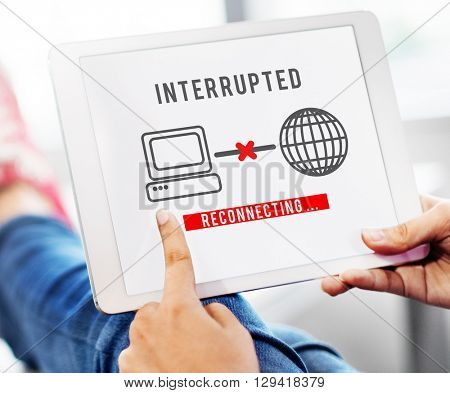 Interrupted Change Break Blocks Effect Fail Stop Concept