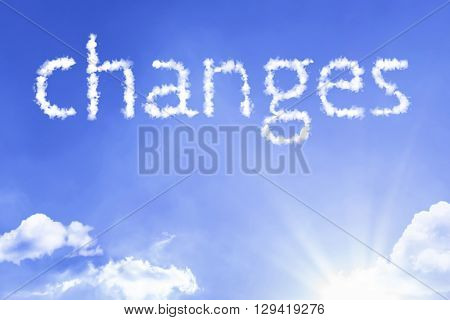 Changes cloud word with a blue sky