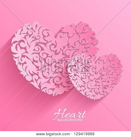 Abstract Ornament Heart Illustration Background Concept