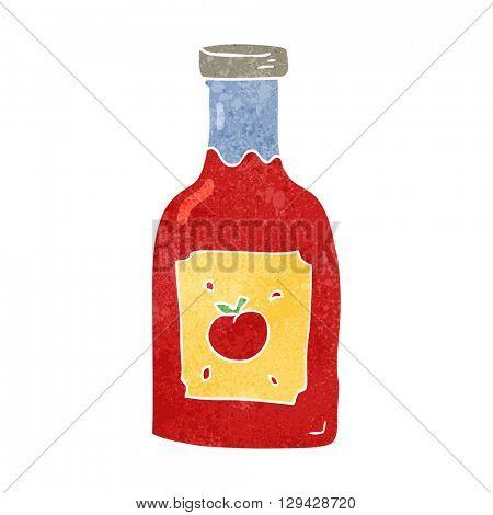 freehand retro cartoon ketchup