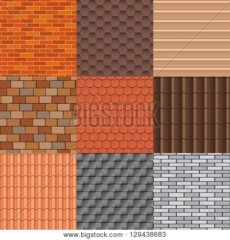 Set of roof tiles of classic buddhist temple. Roof tiles texture and detail roof texture material. Roof tiles exterior construction and roof texture architecture pattern background repeat structure.