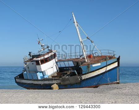 Ship Run Aground Blouberg  Cape Town South Africa