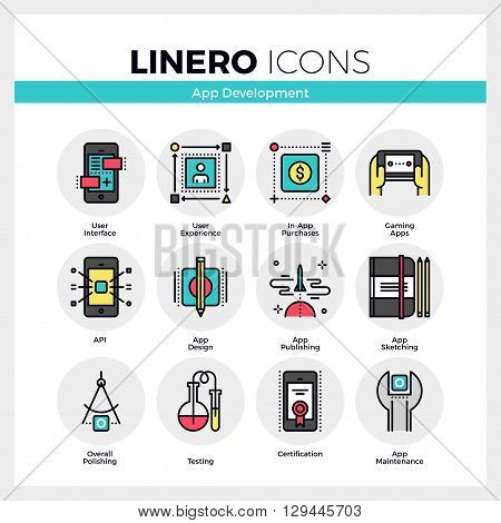 App Development Linero Icons Set