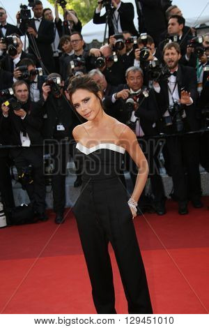 Victoria Beckham attends the 'Cafe Society' premiere and the Opening Night Gala during the 69th Cannes Film Festival at the Palais des Festivals on May 11, 2016 in Cannes, France.