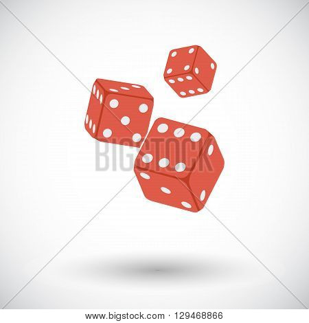 Craps. Flat vector icon for mobile and web applications. Vector illustration.