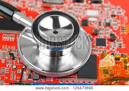 Motherboard And Stethoscope