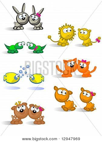 Isolated Pairs Of Animals
