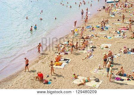 Crimea Summer Beach Scene