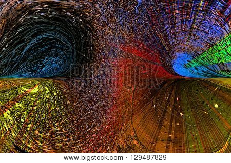 Abstract composition with a fine texture and bright fantastic ornament