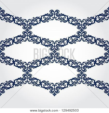 Vector Seamless Border In Victorian Style.