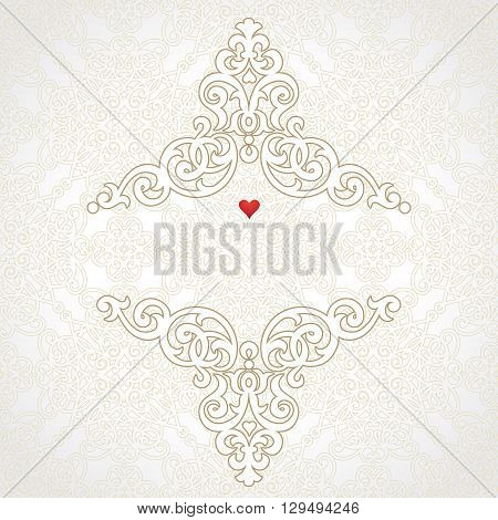 Vector Lace Card In East Style.