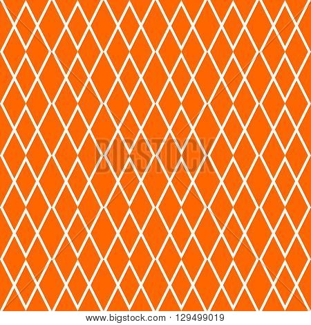 Tile orange and white vector pattern for decoration background wallpaper