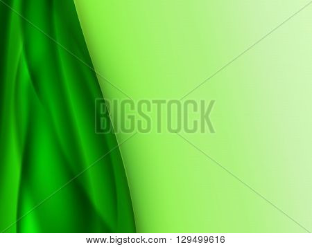 Abstract bright summer background with green wavy vertical lines to the left of the picture, vector illustration