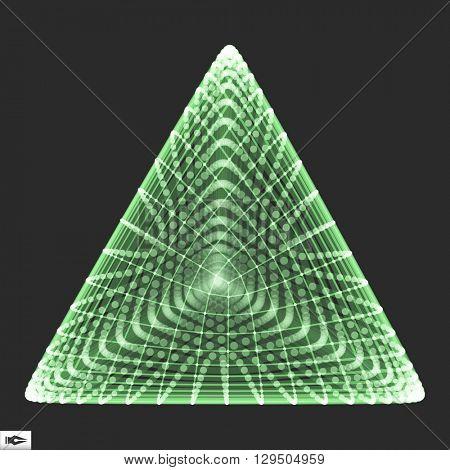 Pyramid. Regular Tetrahedron. Platonic Solid. Regular, Convex Polyhedron. 3D Connection Structure. Lattice Geometric Element for Design poster