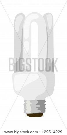LED energy saving bulb. Electric lamp isolated on white background. LED lamp isolated vector electric technology and bright LED lamp isolated. LED lamp isolated object and LED lamp isolated.