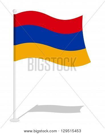 Armenia Flag. Official National Symbol Of Armenian Republic. Traditional Armenian Flag Emerging East