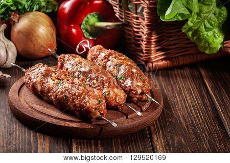 Raw Traditional Sish Kebab