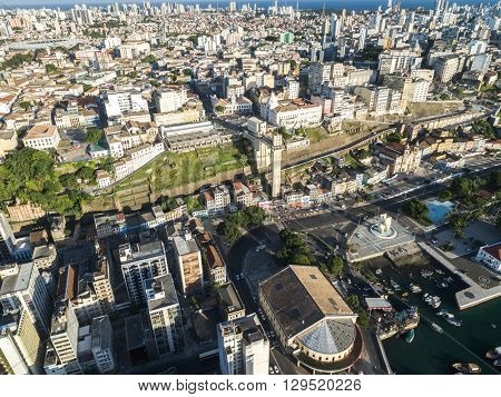 Aerial view of Salvador City in Bahia, Brazil