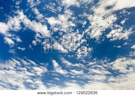Spindrift clouds at sky background