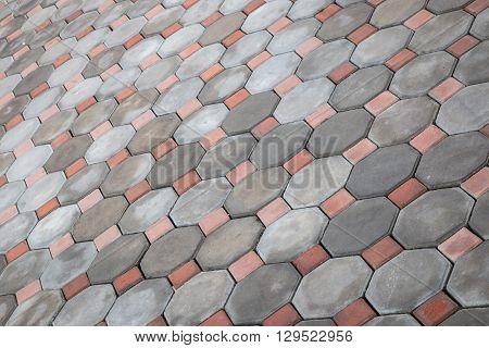 Grey Stone Path Of Walkway